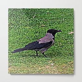 Crow of Courage Metal Print