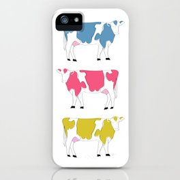 Colorful Rainbow Cows iPhone Case