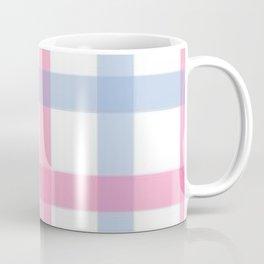 Pink and Blue Gingham Coffee Mug