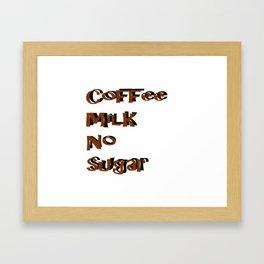 coffee Milk Sugar Framed Art Print