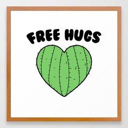 Free Hugs   Cactus Heart Framed Art Print
