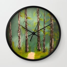 Quiet Forest Wall Clock