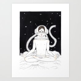 21 Space Thai (With some Color) Art Print