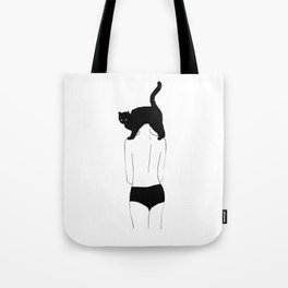 Just got a new hair-cat / Illustration Tote Bag