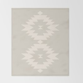 Southwestern Minimalism - White Sand Throw Blanket
