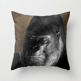 Oumbi The Silverback Gorilla Throw Pillow
