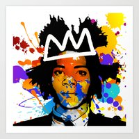 basquiat Art Prints featuring BASQUIAT by SebinLondon