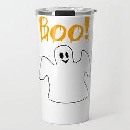 Halloween Ghost Boo Shirt Travel Mug