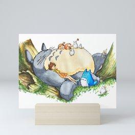 Ghibli forest illustration Mini Art Print