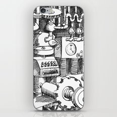 DINNER TIME FOR THE ROBOT iPhone & iPod Skin