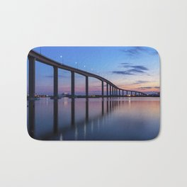 The Jordan Bridge at Twilight Bath Mat