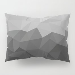 Low polygon monochromatic minimalism Pillow Sham