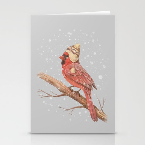 First Snow - colour option Stationery Cards