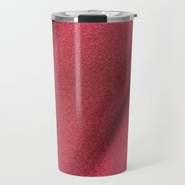 Red Polyester clothing texture. Travel Mug