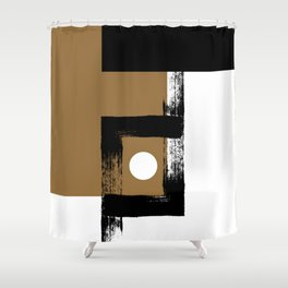 Carbon Dioxide - Minimalist Graphic Shower Curtain