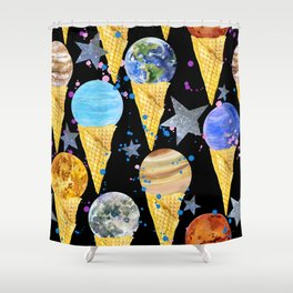 Univers with Planet of the solar system. Shower Curtain