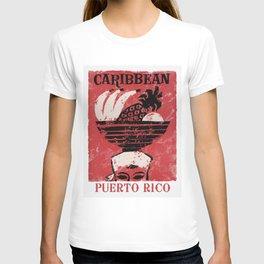 Puerto Rico - Vintage Caribbean Travel T-shirt