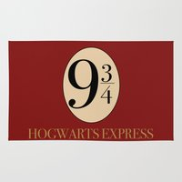 harry Area & Throw Rugs featuring HARRY POTTER by Sophie