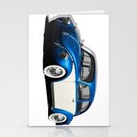 volkswagen Stationery Cards featuring Volkswagen Beetle by cjsphotos