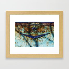 Rusty Chevy Tailpiece Framed Art Print