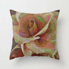 Textured Rose Throw Pillow