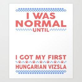 Hungarian Vizsla Ugly Christmas Sweaters Art Print
