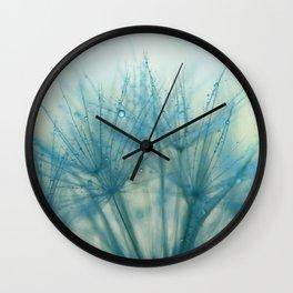 dandelion blue IX Wall Clock