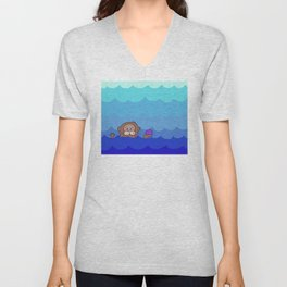 Otterly Delightful Unisex V-Neck