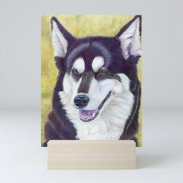 Siberian husky 2 Mini Art Print