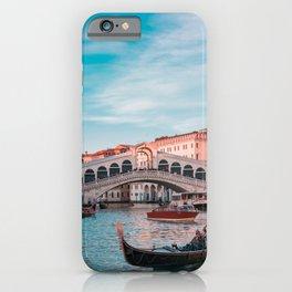 Venice Bridge of Sighs with gondola Italian photography iPhone Case