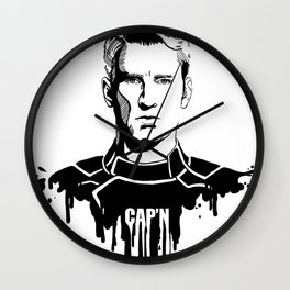Avengers in Ink: Captain America Wall Clock