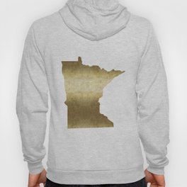 minnesota gold foil state map Hoody
