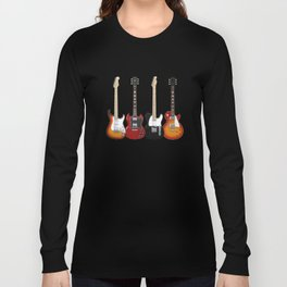 Four Electric Guitars Long Sleeve T-shirt