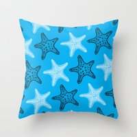 starfish Throw Pillows featuring Starfish by Dana Martin