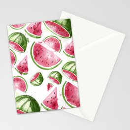 Juicy Watercolor Watermelons Stationery Cards