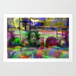 Cosmetology (Glitch) Art Print