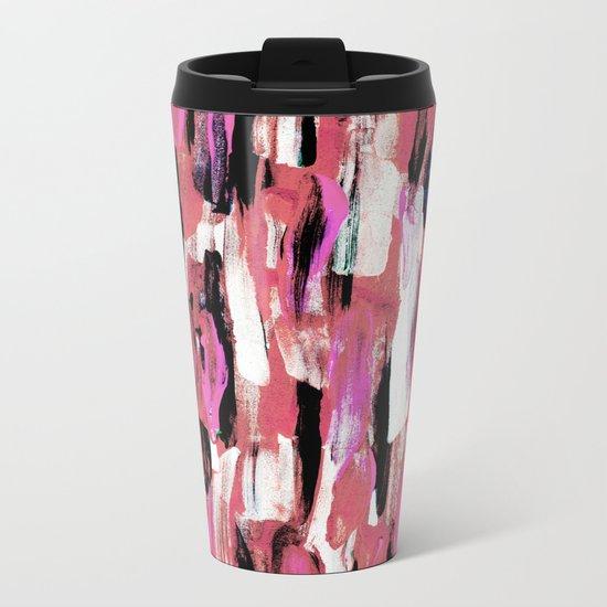 Colourful Feathers Metal Travel Mug