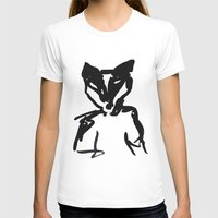 badger T-shirts featuring Badger by SarahEllenBurns