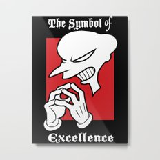 Symbol of Excellence Metal Print