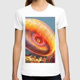 Amusement Park Ride Long Exposure T-shirt