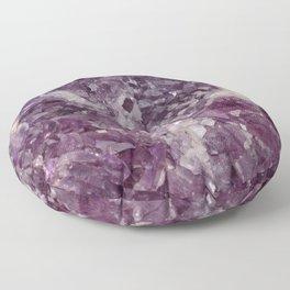 Deep Purple Quartz Crystal Floor Pillow