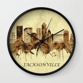 Jacksonville Florida Cityscape Wall Clock