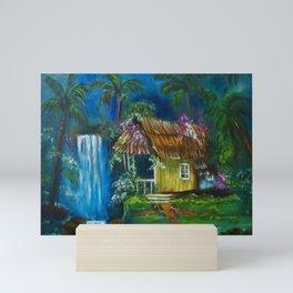 Old Hawaiian Hut, Slippers by the Door Mini Art Print