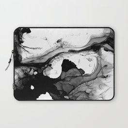 Soft Black Marble Laptop Sleeve