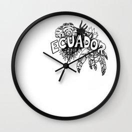 Ecuador planta Wall Clock