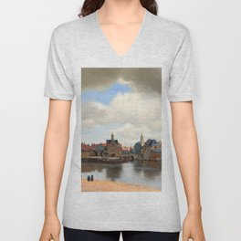 "Johannes Vermeer ""View of Delft"" Unisex V-Neck"