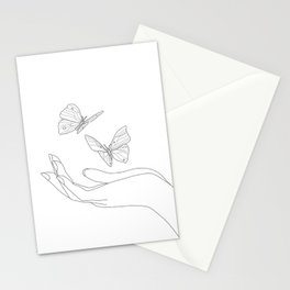 Butterflies on the Palm of the Hand Stationery Cards