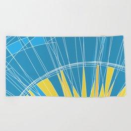 Abstract pattern, digital sunrise illustration Beach Towel