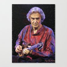 Awesome guitar player Canvas Print