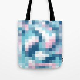 Mat Map Squares Aqua Tote Bag